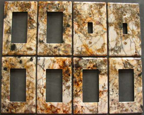Delicatus granite switch plate covers