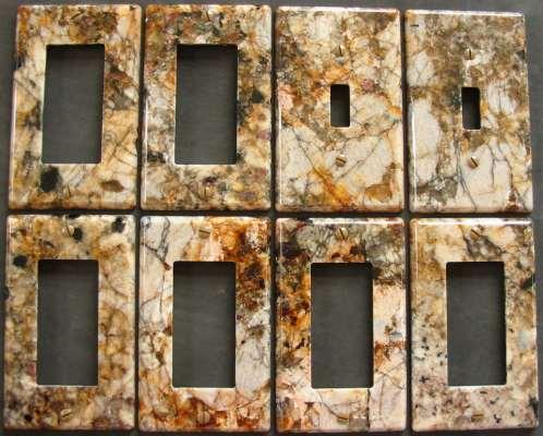 Delicatus Granite Switch Plate Covers
