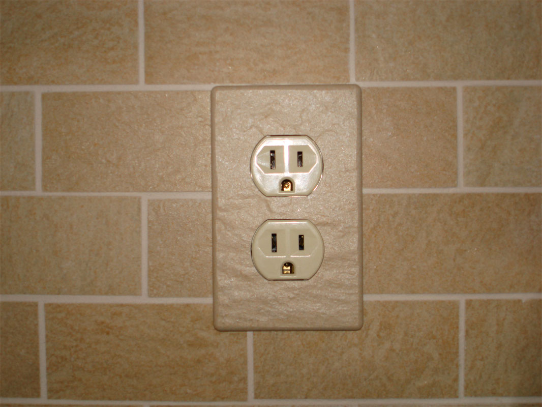 Installed Ceramic Tile Switch Plate Covers Magnetic Electrical Outlet Cover