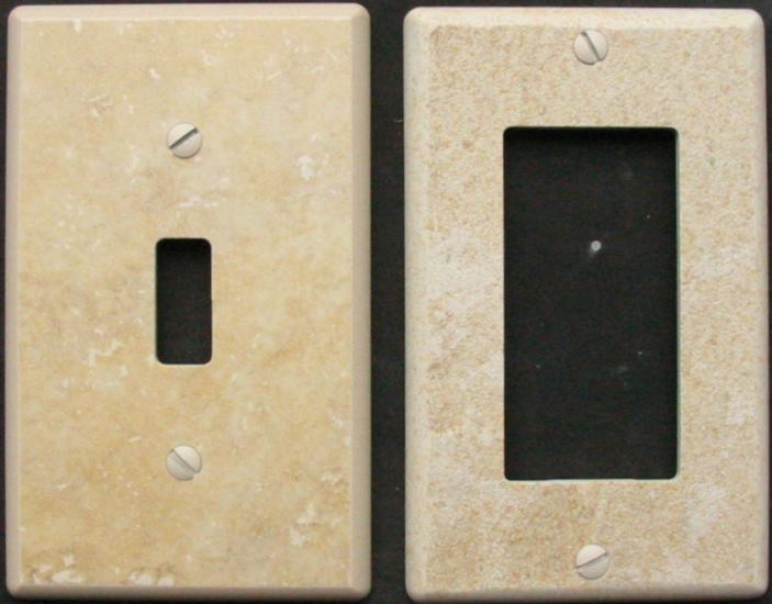 custom switchplates switch plates can be made from many materials. Black Bedroom Furniture Sets. Home Design Ideas