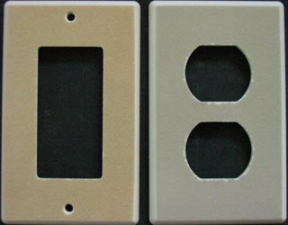 Crackle glazed custom switch cover plates