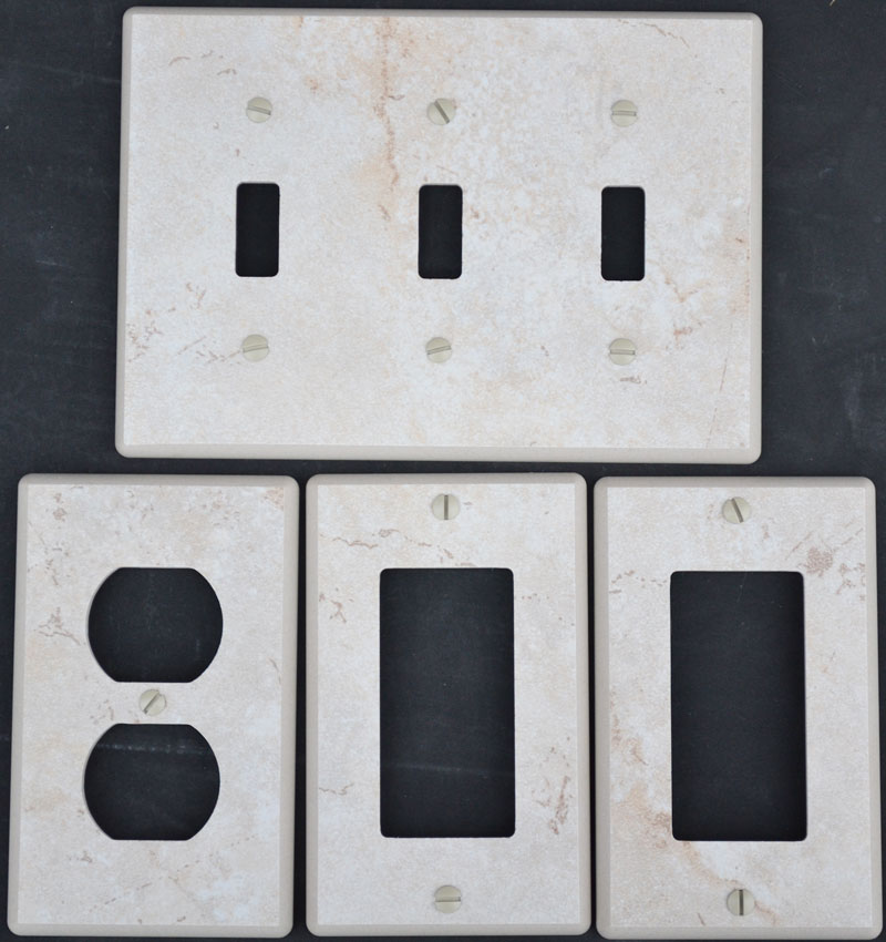 Porcelain Ceramic Switch Plates And Receptacle Covers