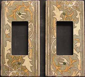 Tiled in switch cover plates