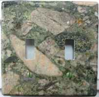 Double granite switch plate