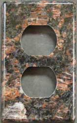 Tan Brown granite switch plate