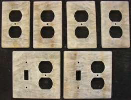 Custom Honey Onyx decorative switch plates