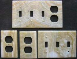 Honey Onyx switch plates