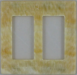 Magnetic Honey Onyx switch plate