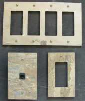 Flush mount slate switch plates