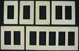 Jerusalem Gold Limestone switch plates