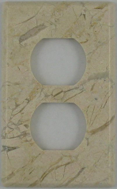 Marble switch plate covers