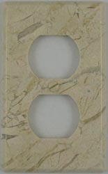 Crema Marfil marble outlet covers