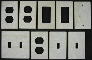 Bptticino tumbled marble switch plates