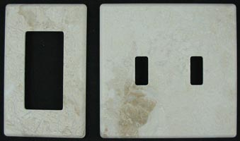 Honed marble switch plates