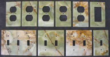 Green onyx switch plates