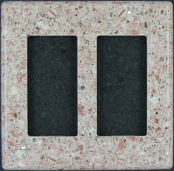Custom Silestone double switch plate