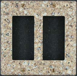 Custom double decora Silestone switch plate