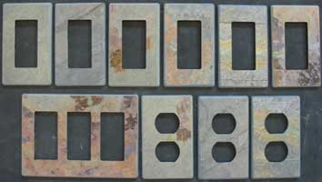 Jack Multi slate switch cover plates