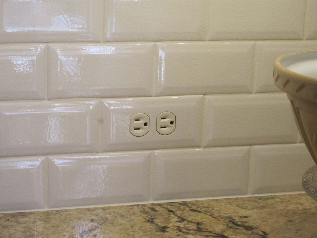 Tiled In Subway Tile Switchplates Close Up Of A Switch Plate Cover