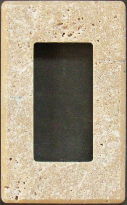 Tumbled Travertine Decora Switch Plate