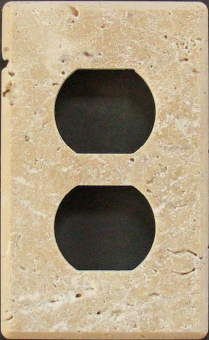 Charmant Tumbled Travertine Duplex Switch Plate. Tumbled Chiaro Travertine  Switchplate