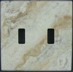 Picasso Travertine switch plate