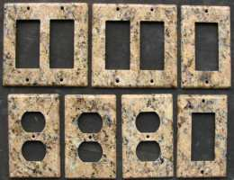 Veneziano granite switch plates