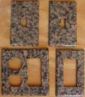 Violetta granite switchplates
